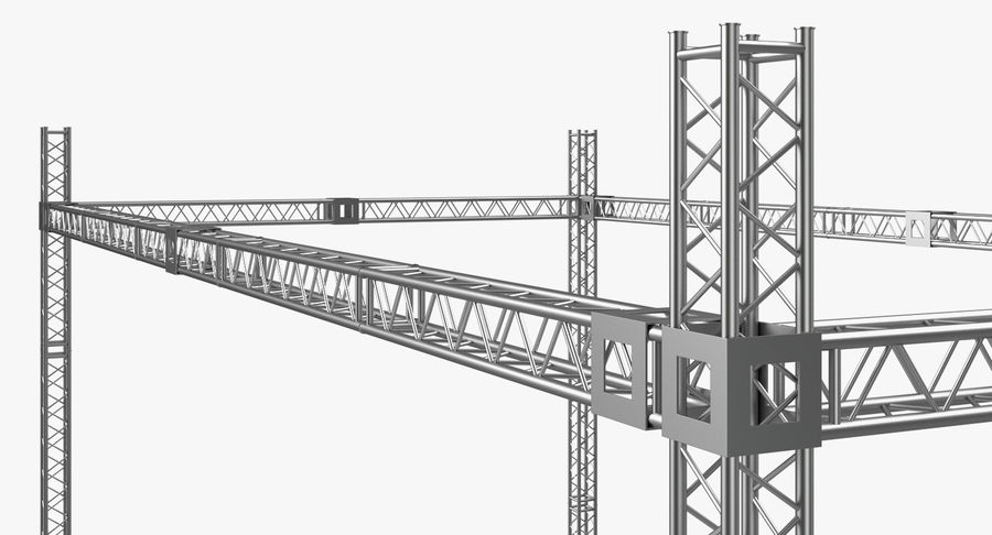 Big Truss System royalty-free 3d model - Preview no. 9