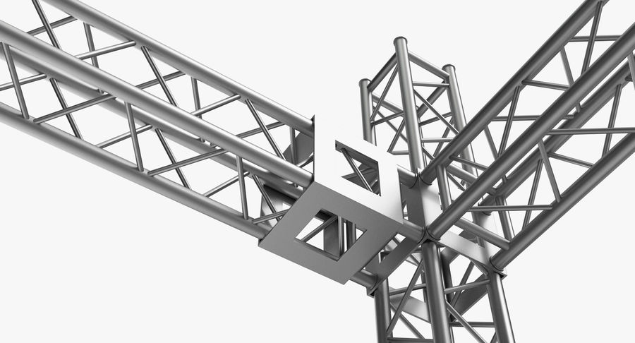 Big Truss System royalty-free 3d model - Preview no. 10