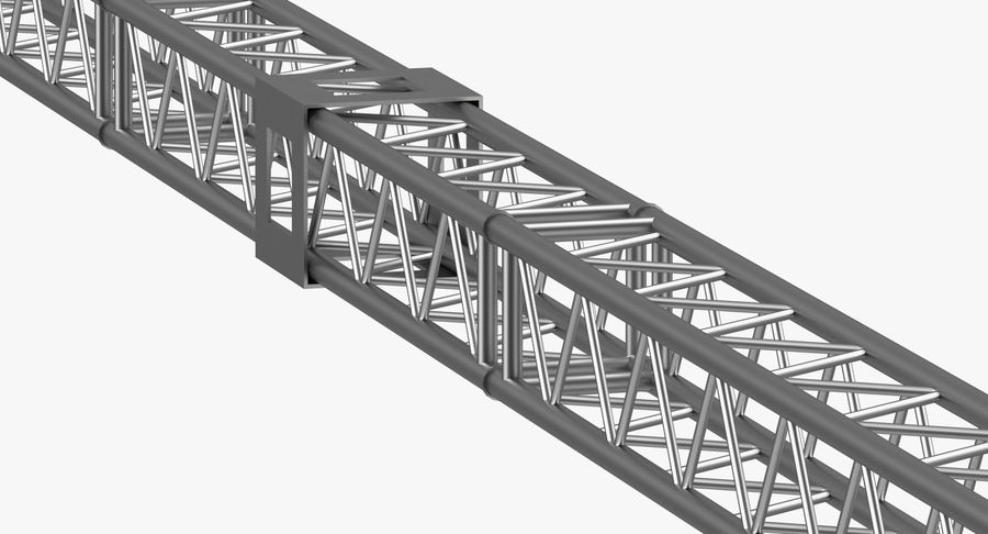 Big Truss System royalty-free 3d model - Preview no. 11