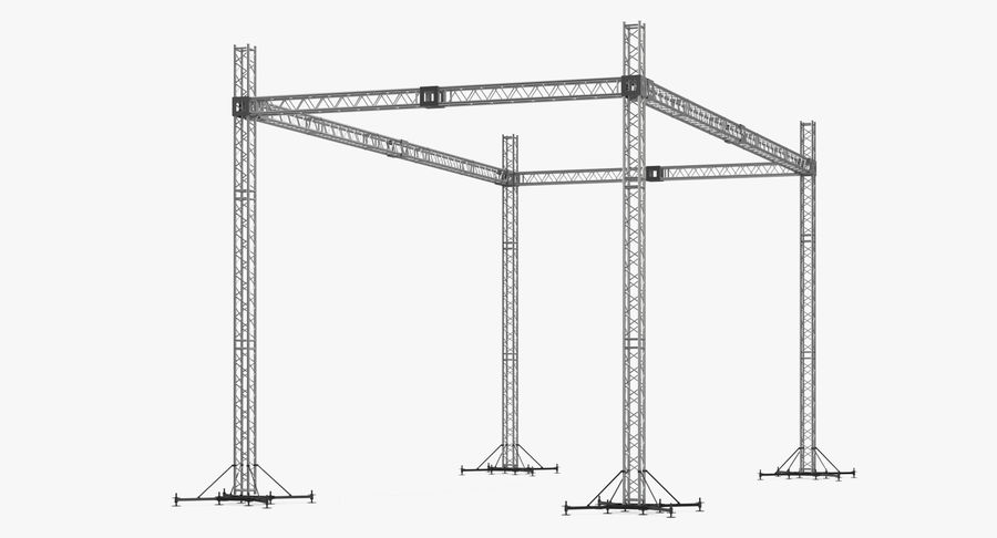 Big Truss System royalty-free 3d model - Preview no. 2