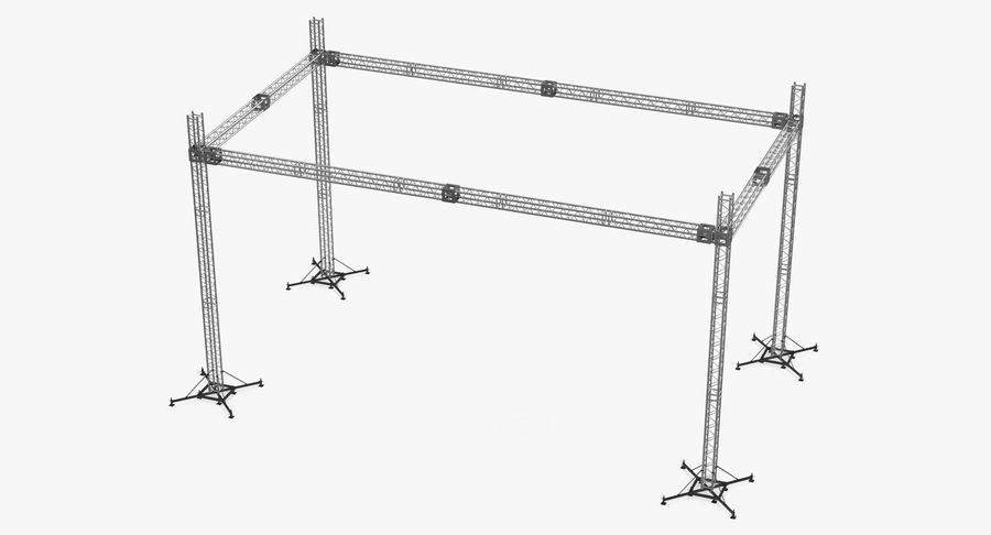 Big Truss System royalty-free 3d model - Preview no. 4
