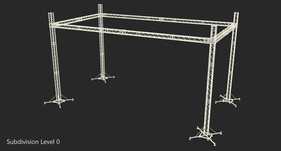 Big Truss System royalty-free 3d model - Preview no. 15