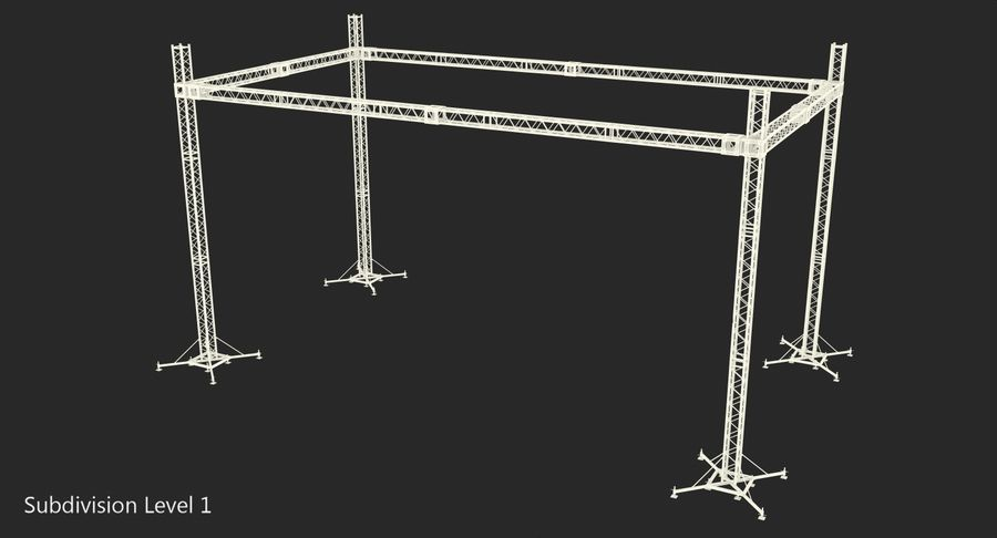 Big Truss System royalty-free 3d model - Preview no. 16