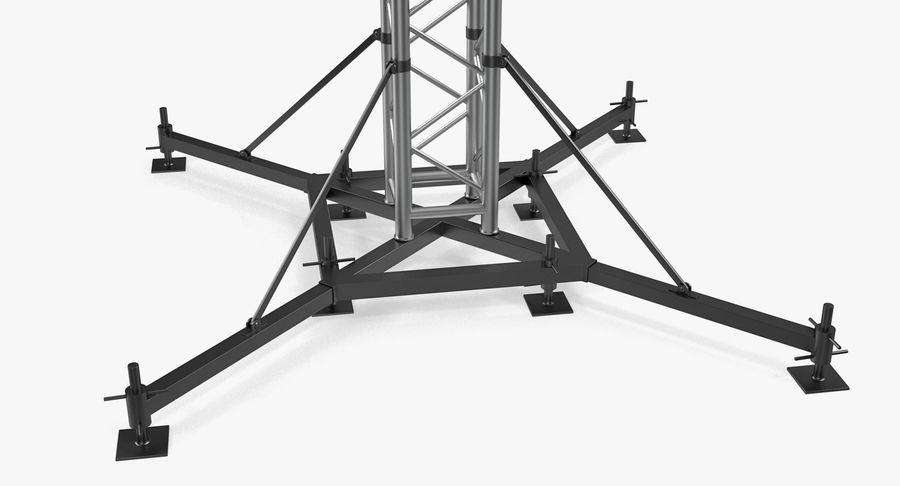 Big Truss System royalty-free 3d model - Preview no. 13