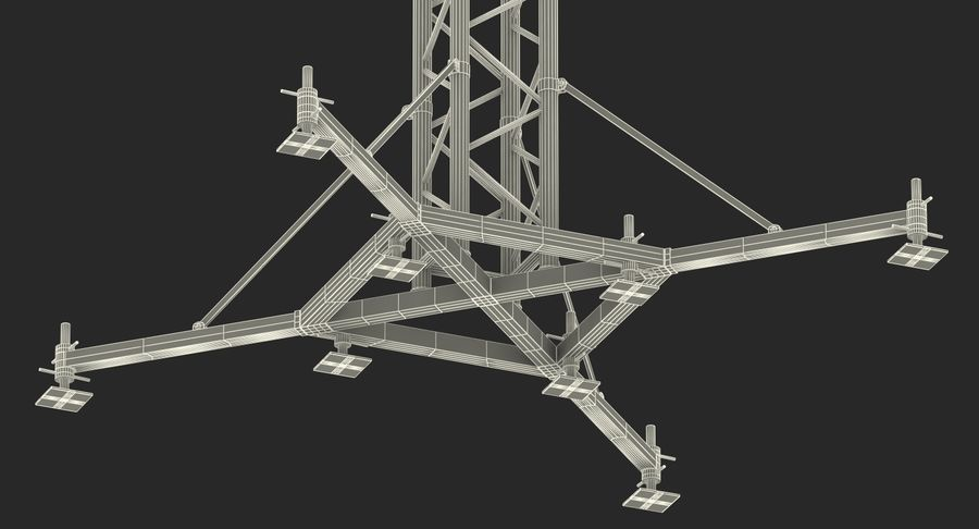 Big Truss System royalty-free 3d model - Preview no. 21