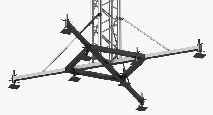 Big Truss System royalty-free 3d model - Preview no. 14