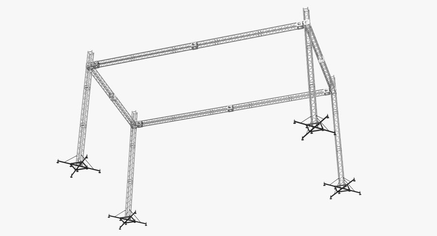 Big Truss System royalty-free 3d model - Preview no. 6