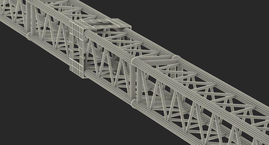 Big Truss System royalty-free 3d model - Preview no. 22
