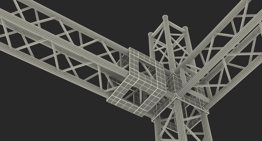 Big Truss System royalty-free 3d model - Preview no. 20