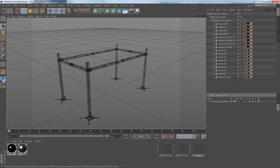 Big Truss System royalty-free 3d model - Preview no. 18