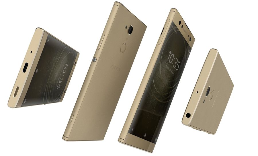 Sony Xperia XA2 Ultra Gold royalty-free 3d model - Preview no. 12