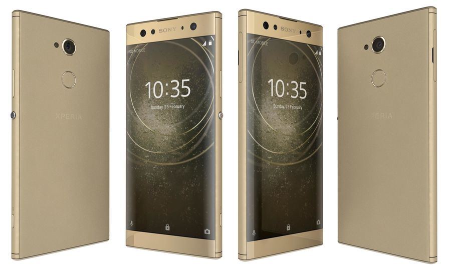 Sony Xperia XA2 Ultra Gold royalty-free 3d model - Preview no. 1
