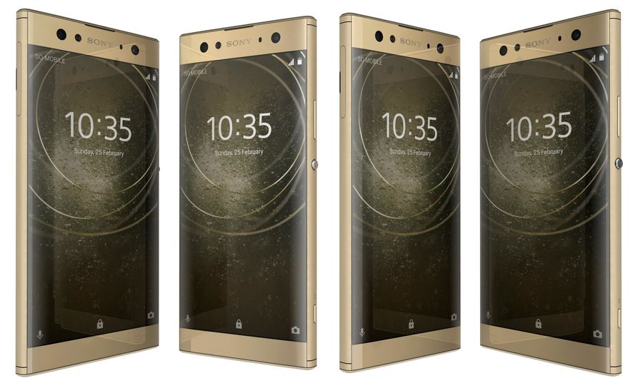 Sony Xperia XA2 Ultra Gold royalty-free 3d model - Preview no. 2