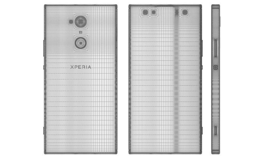 索尼Xperia XA2 Ultra Gold royalty-free 3d model - Preview no. 18
