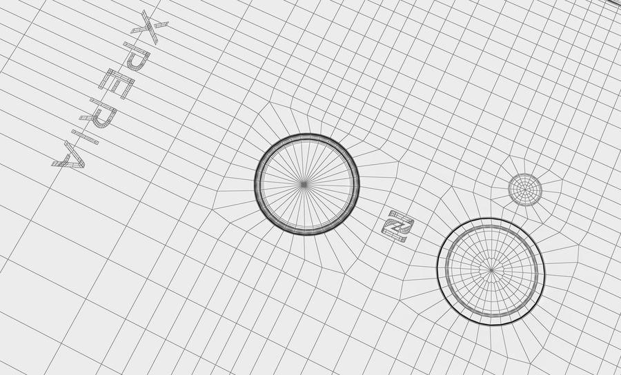 索尼Xperia XA2 Ultra Gold royalty-free 3d model - Preview no. 21