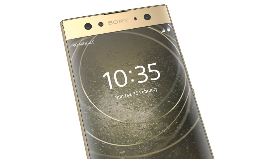 Sony Xperia XA2 Ultra Gold royalty-free 3d model - Preview no. 16