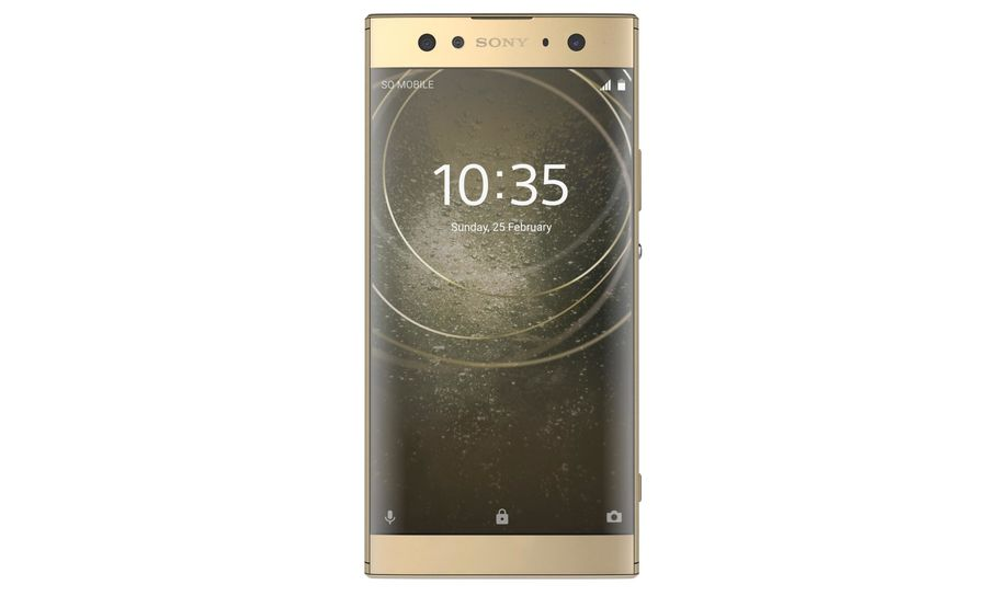 Sony Xperia XA2 Ultra Gold royalty-free 3d model - Preview no. 7