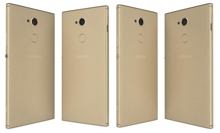 Sony Xperia XA2 Ultra Gold royalty-free 3d model - Preview no. 4