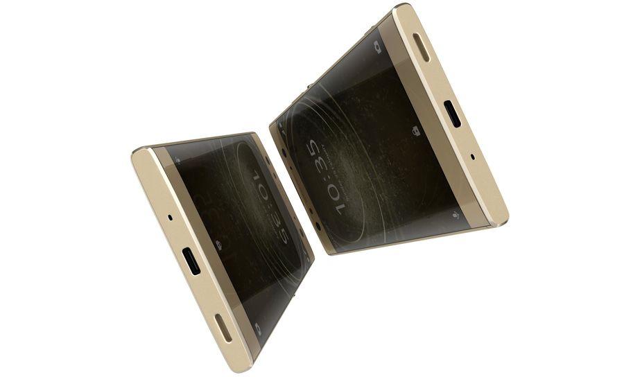 索尼Xperia XA2 Ultra Gold royalty-free 3d model - Preview no. 10