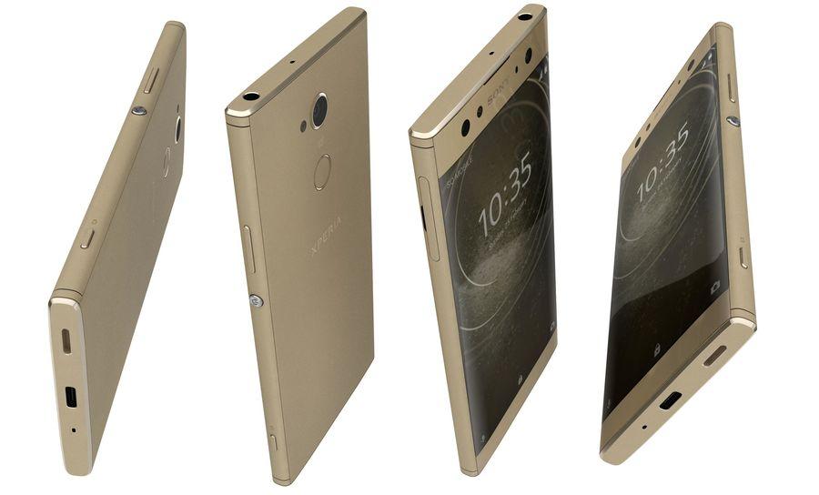 索尼Xperia XA2 Ultra Gold royalty-free 3d model - Preview no. 13