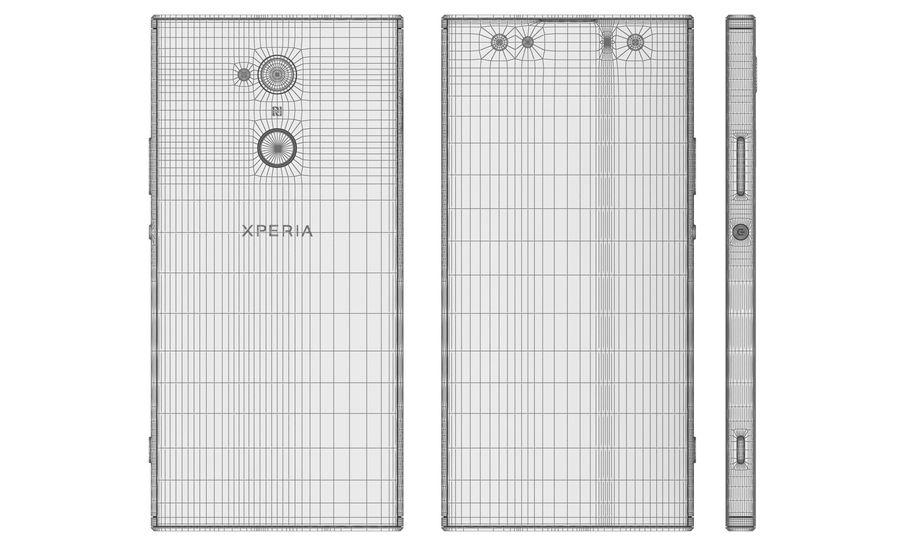 索尼Xperia XA2 Ultra Gold royalty-free 3d model - Preview no. 17