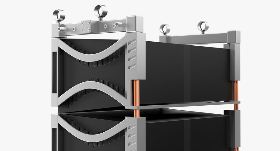 Concert Stage Array Audio System royalty-free 3d model - Preview no. 8