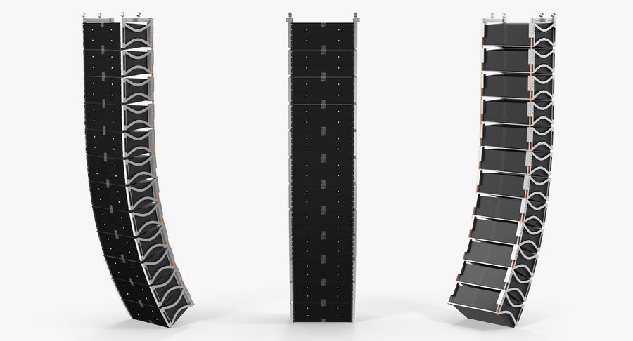 Concert Stage Array Audio System royalty-free 3d model - Preview no. 5