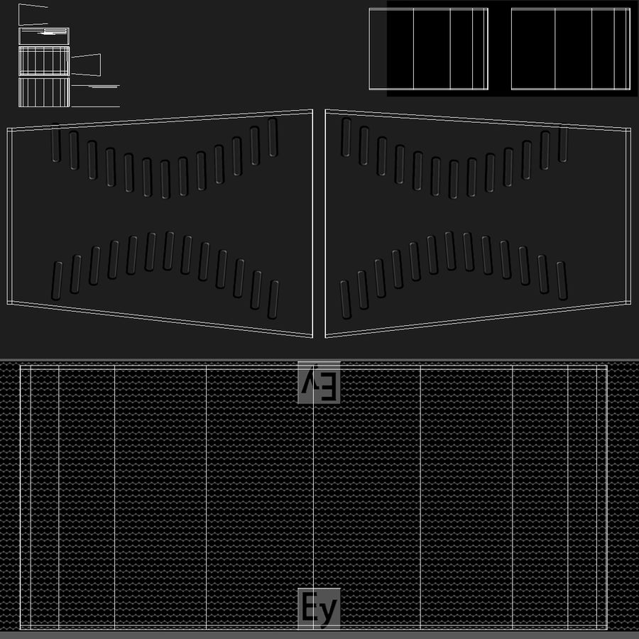 Concert Stage Array Audio System royalty-free 3d model - Preview no. 12