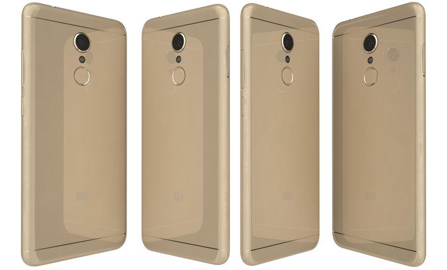 Xiaomi Redmi 5 Gold royalty-free 3d model - Preview no. 3