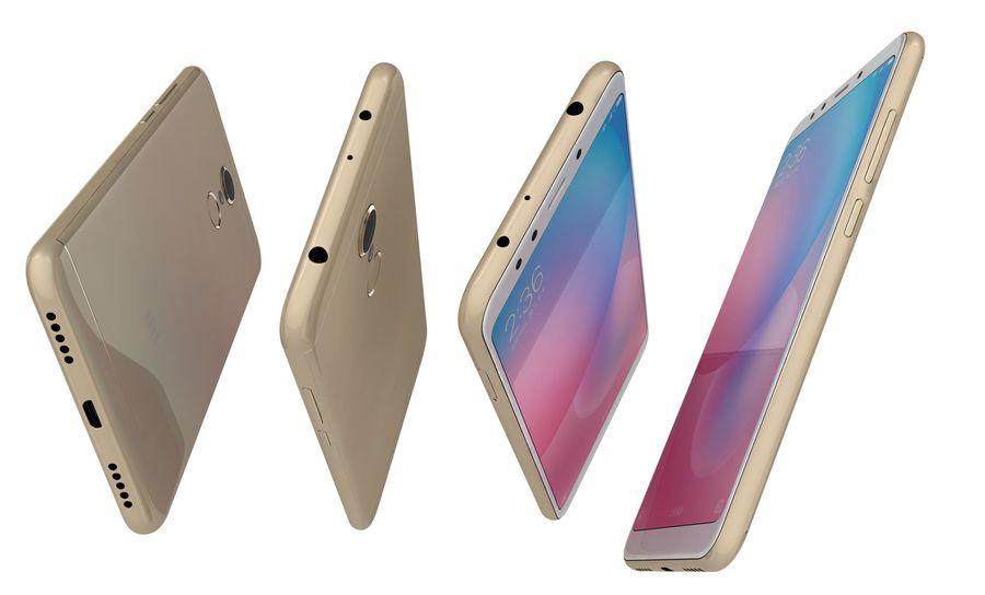 Xiaomi Redmi 5 Gold royalty-free 3d model - Preview no. 13