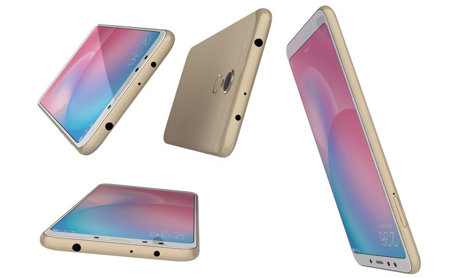 Xiaomi Redmi 5 Gold royalty-free 3d model - Preview no. 14