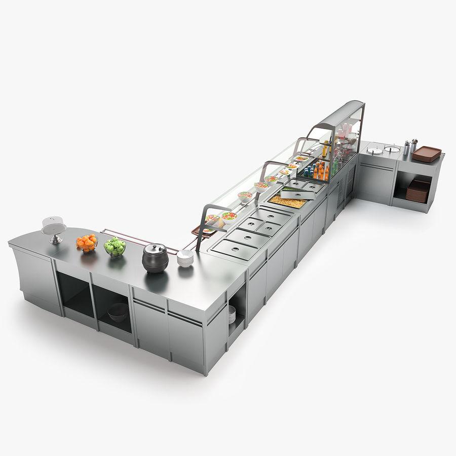 Online Kitchen Supplies: Kitchen Equipment Serving Lines 3D Model $49