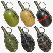 Grenades pack 01 3d model