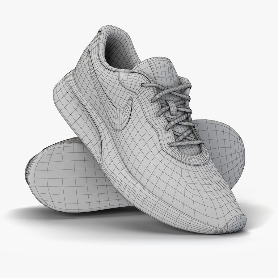 9389261ae8208 Zapatillas de deporte Nike Tanjun royalty-free modelo 3d - Preview no. 5
