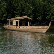 日本のボート 3d model