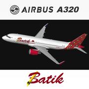 Airbus A320 Batik Hava 3d model
