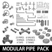 Modular Pipe Pack 3d model