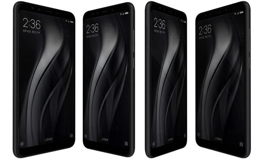 Xiaomi Redmi 5 Black royalty-free 3d model - Preview no. 2