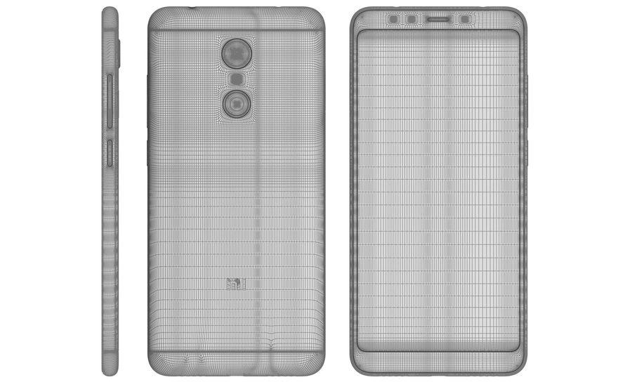 Xiaomi Redmi 5 Black royalty-free 3d model - Preview no. 18