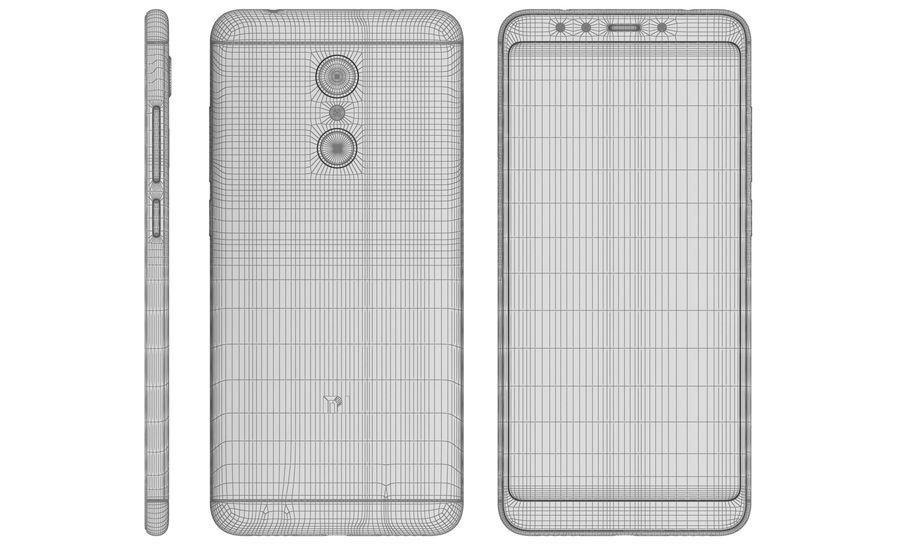 Xiaomi Redmi 5 Black royalty-free 3d model - Preview no. 17