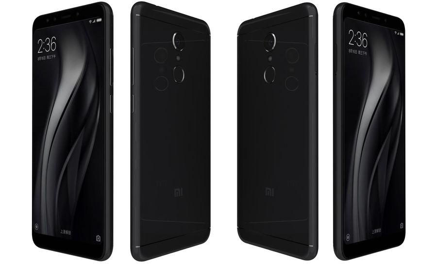 Xiaomi Redmi 5 Black royalty-free 3d model - Preview no. 5