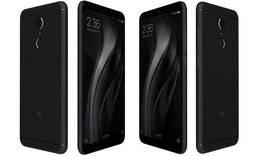 Xiaomi Redmi 5 Black royalty-free 3d model - Preview no. 6