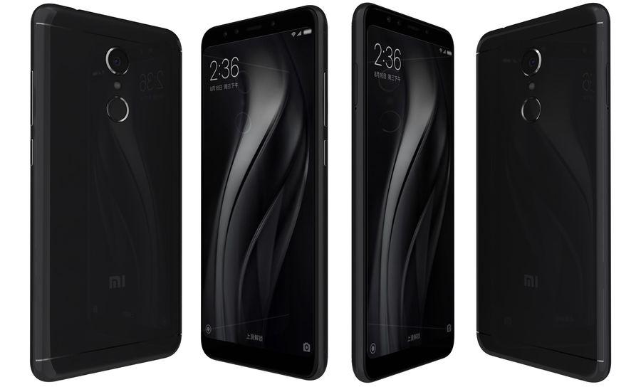 Xiaomi Redmi 5 Black royalty-free 3d model - Preview no. 1