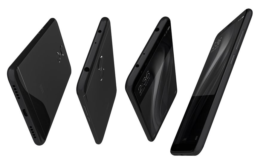 Xiaomi Redmi 5 Black royalty-free 3d model - Preview no. 13