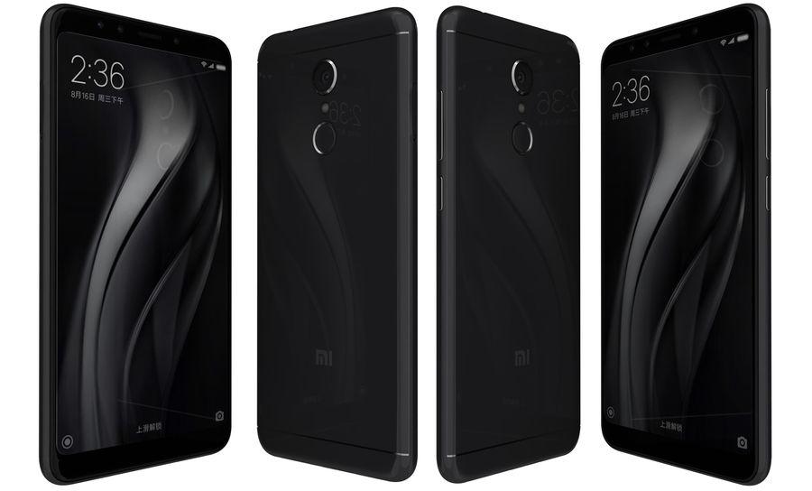 Xiaomi Redmi 5 Black royalty-free 3d model - Preview no. 4