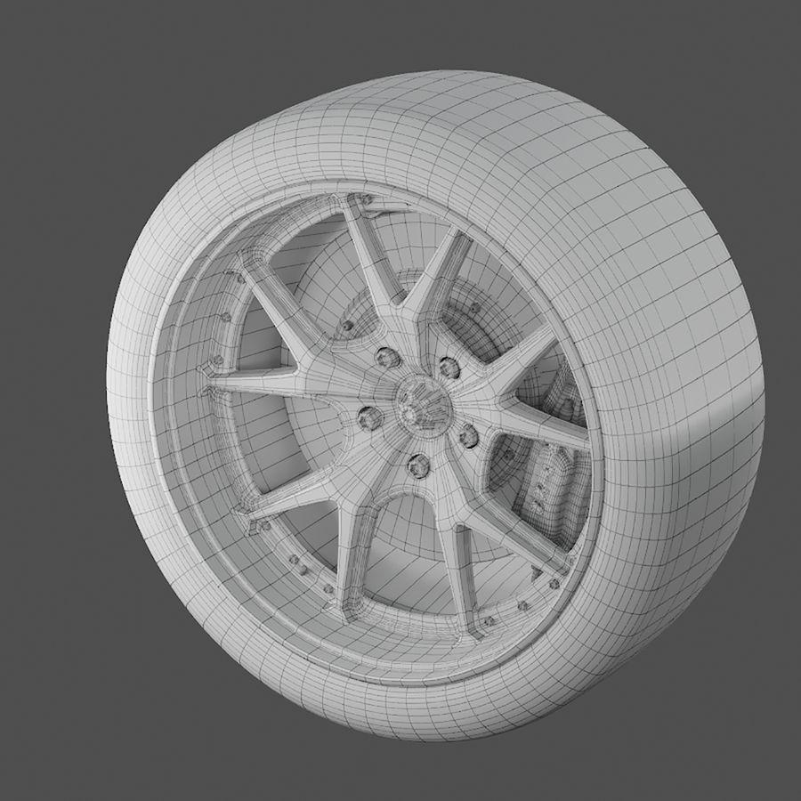 ミシュランタイヤ付きレーシングホイール royalty-free 3d model - Preview no. 5