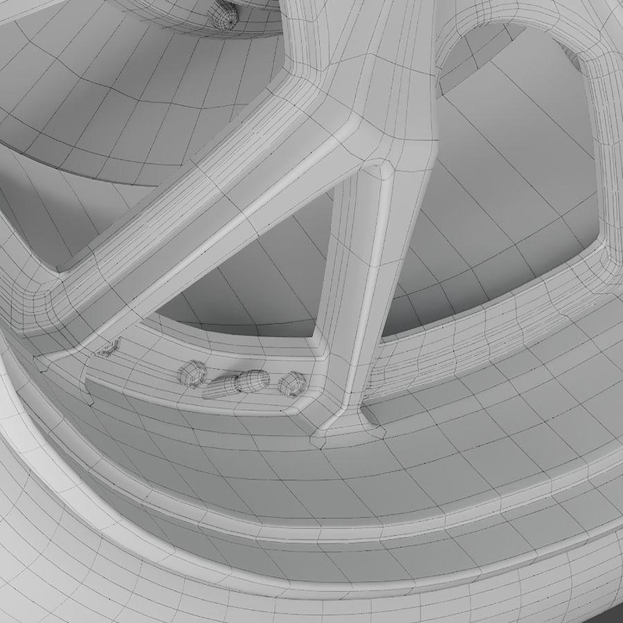 ミシュランタイヤ付きレーシングホイール royalty-free 3d model - Preview no. 7
