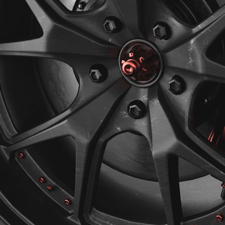ミシュランタイヤ付きレーシングホイール royalty-free 3d model - Preview no. 3
