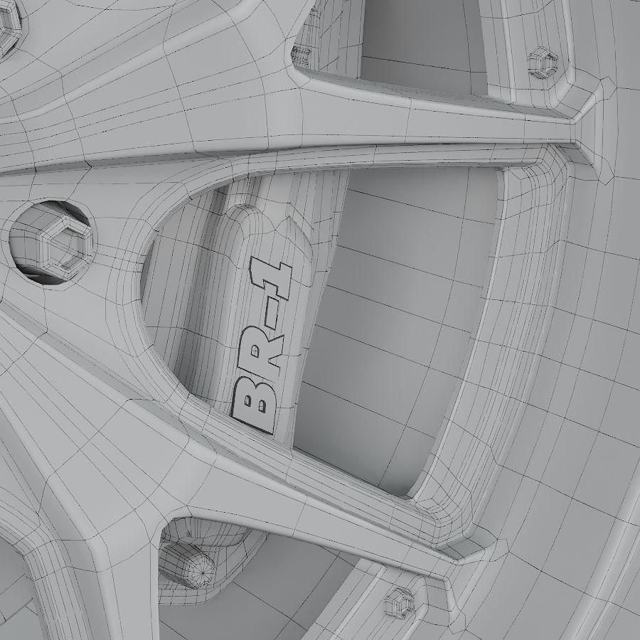 ミシュランタイヤ付きレーシングホイール royalty-free 3d model - Preview no. 6
