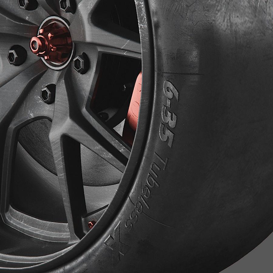 ミシュランタイヤ付きレーシングホイール royalty-free 3d model - Preview no. 4